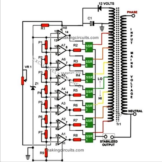 circuit diagram voltage stabilizer