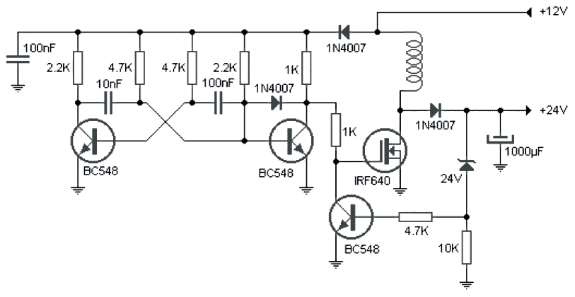 simple boost converter circuit