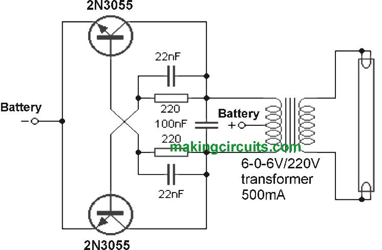 fluorescent tube circuit