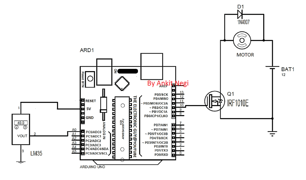 automatic fan controller for heatsink
