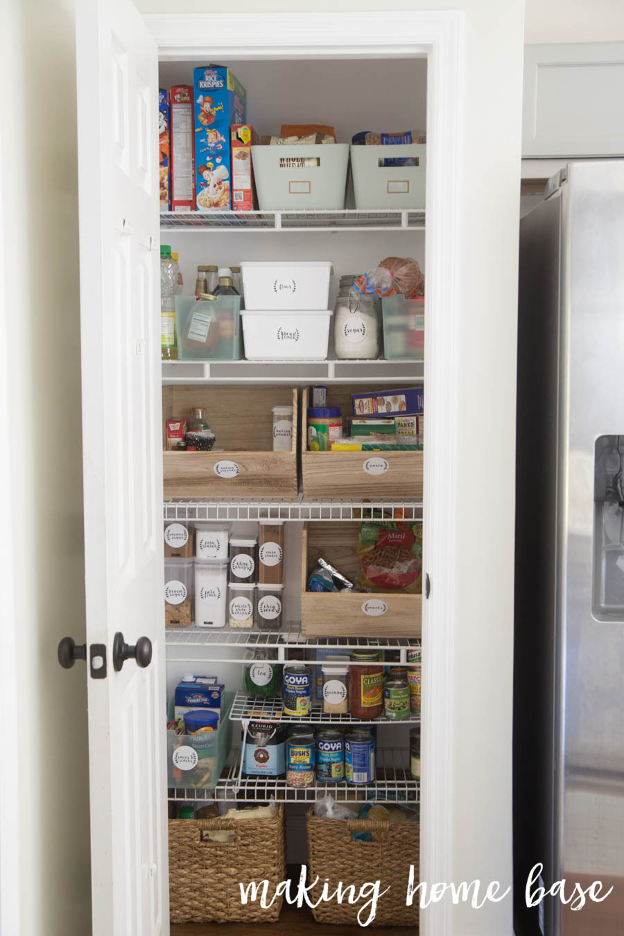 Closet Pantry Six Steps To Pantry Organization With Free Printable Labels