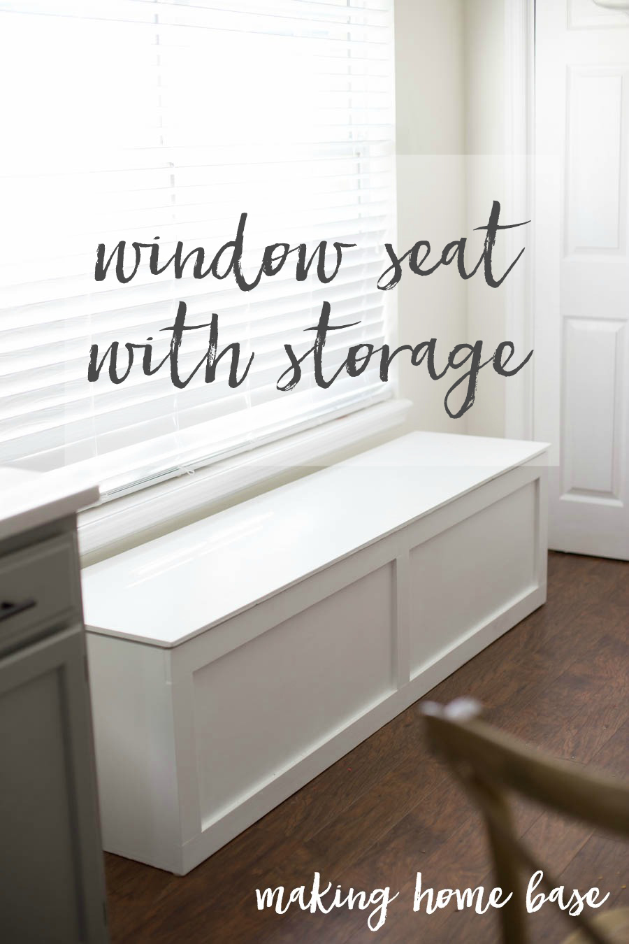 Seating With Storage Underneath How To Build A Window Seat With Storage Diy Tutorial