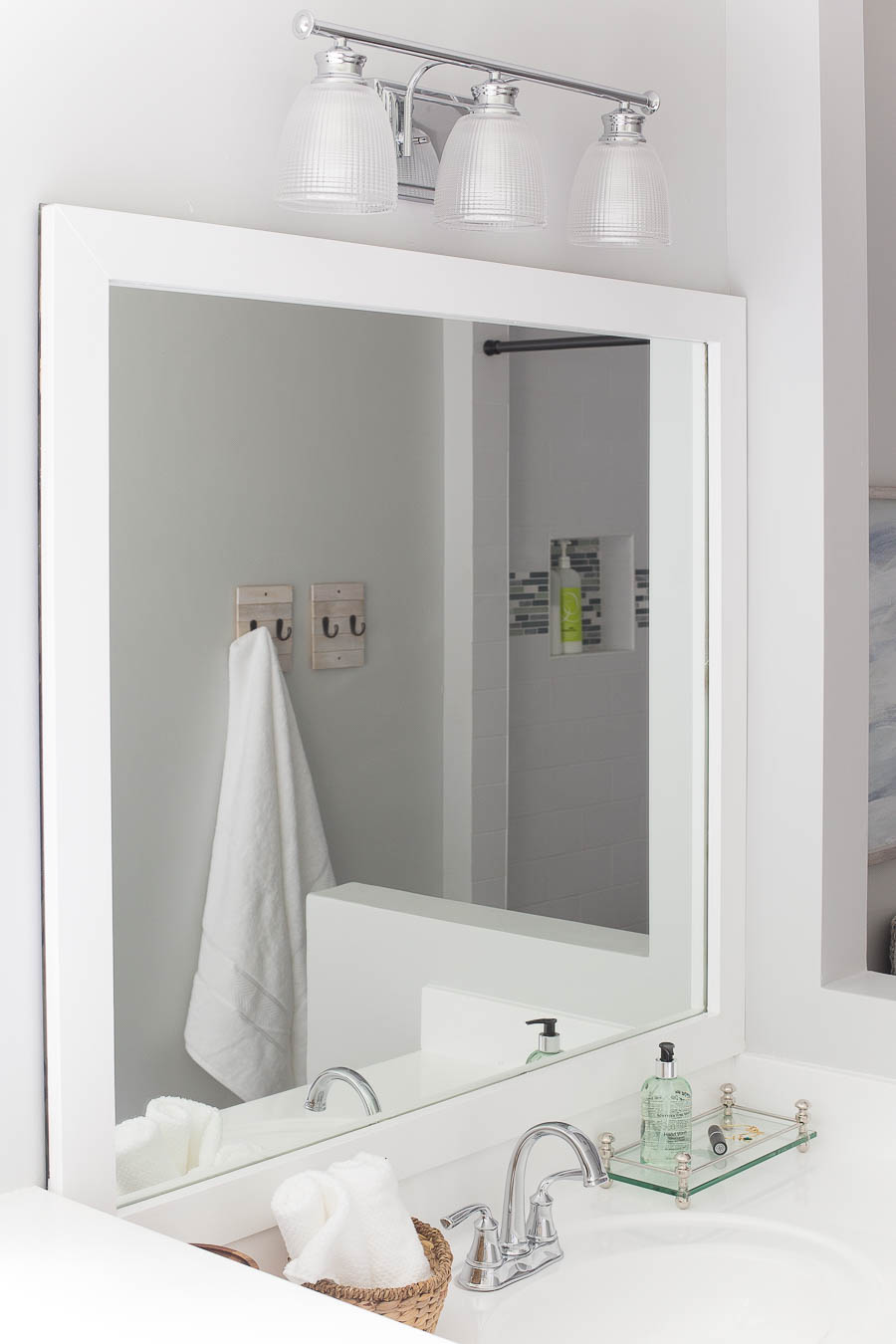How To Frame Pictures How To Frame A Bathroom Mirror Easy Diy Project