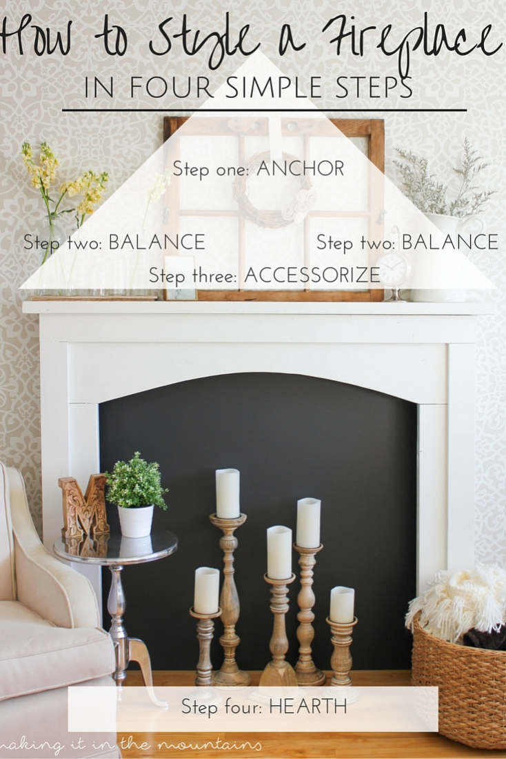 How To Decorate Fireplace How To Decorate A Fireplace In 4 Easy Steps Making It In The