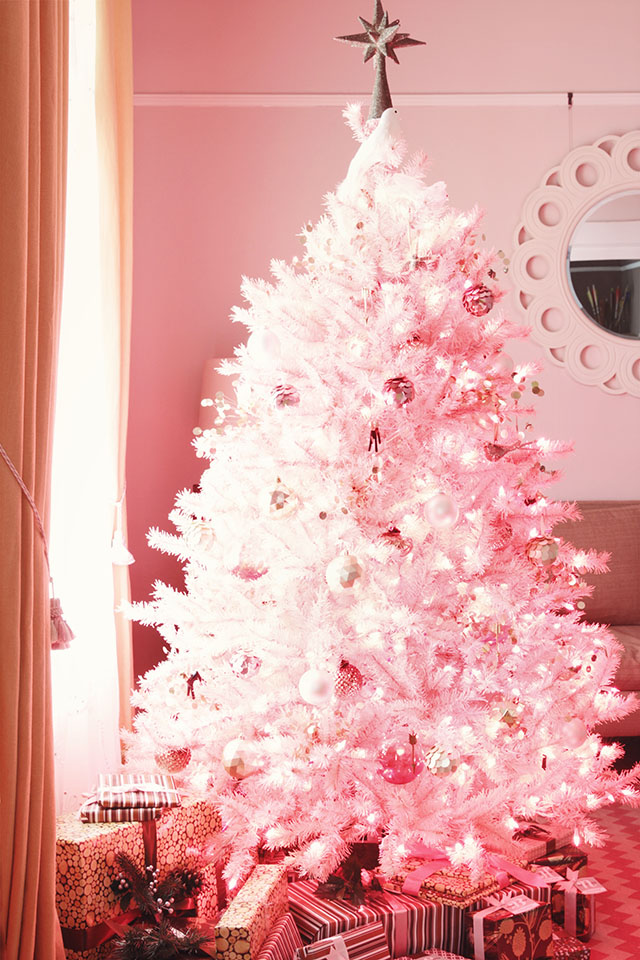 Pink christmas tree decorated images amp pictures becuo