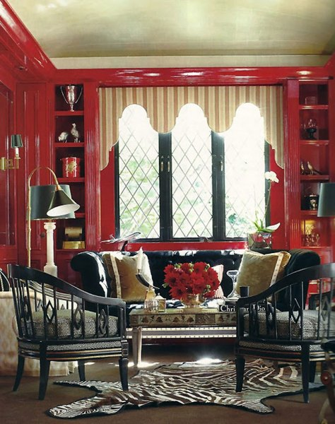 Red Lacquer Library by Ruthie Sommers