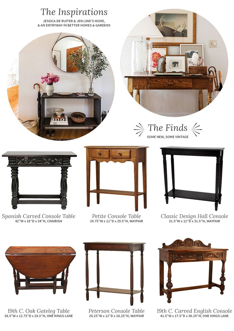 Vintage Hall Table Choosing A Console Table And Mirror For An Entryway Making It Lovely