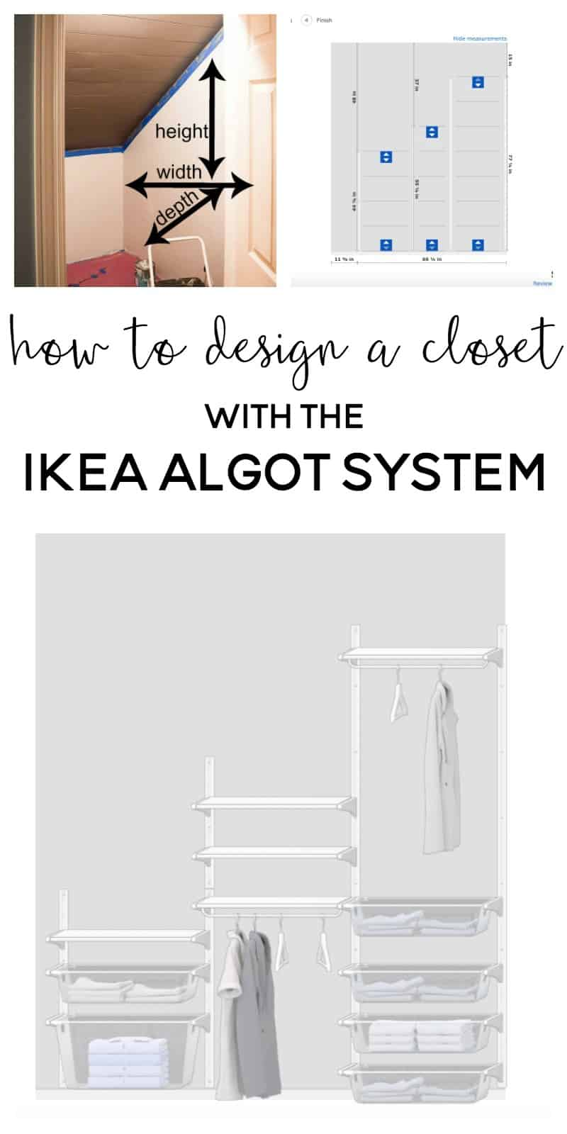 Ikea System One Room Challenge Week 3 Designing The Ikea Algot Closet System