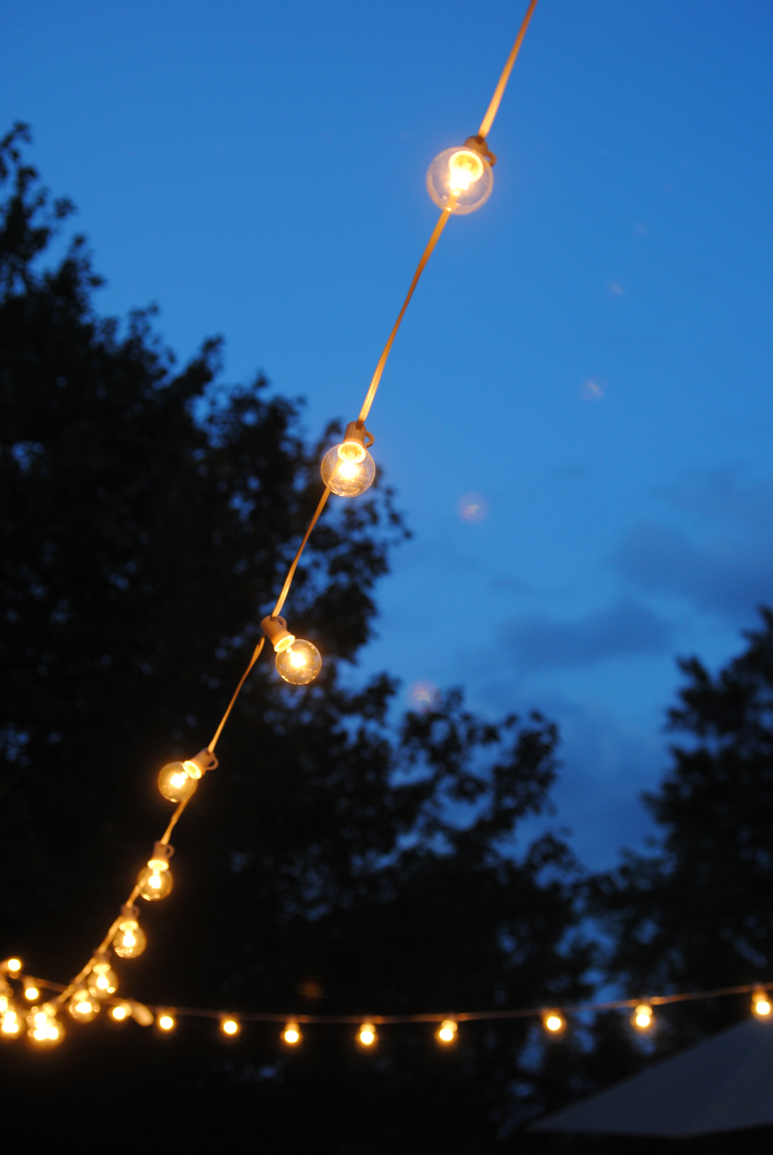 Outdoor Party Lights How To Hang Outdoor String Lights The Deck Diaries Part 3