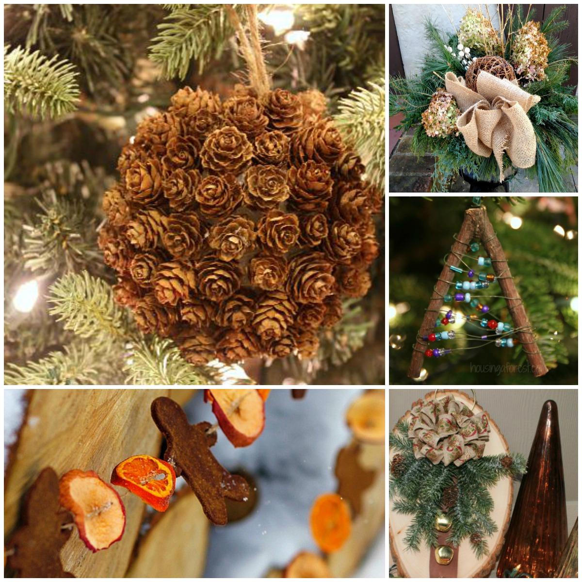 Natural Christmas Decor Ideas (aka Free Christmas