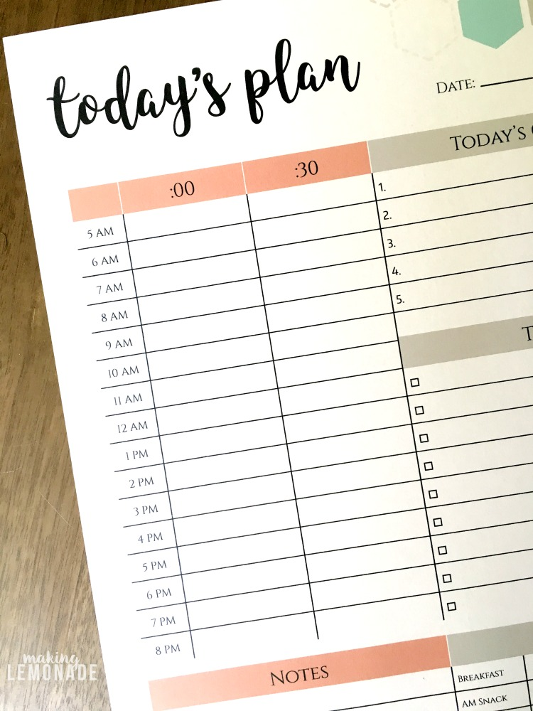 The One Printable I Can\u0027t Function Without (FREE Daily Planner!)