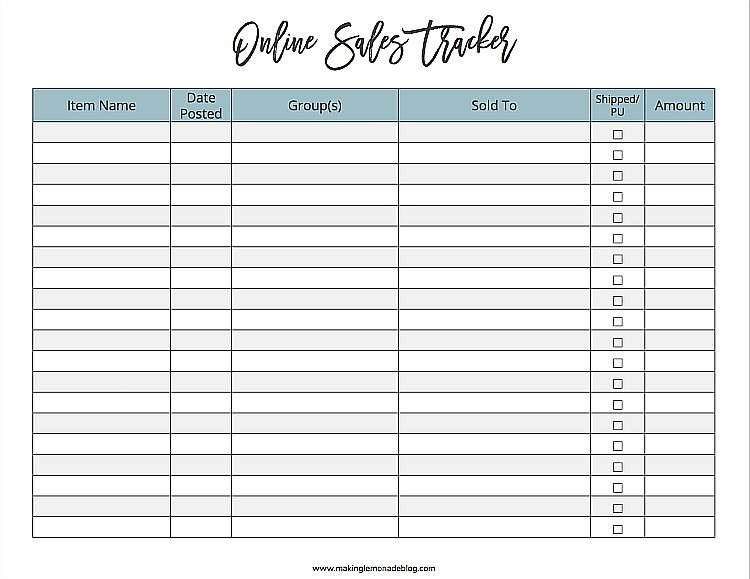 Earn Money from Decluttering + FREE Printable Tracker!