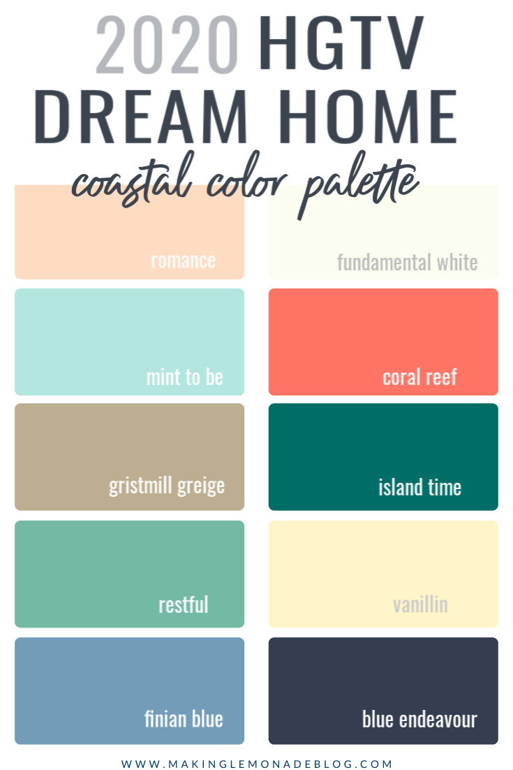 Insider S Guide To The 2020 Hgtv Dream Home Paint Colors Decor Sources Making Lemonade