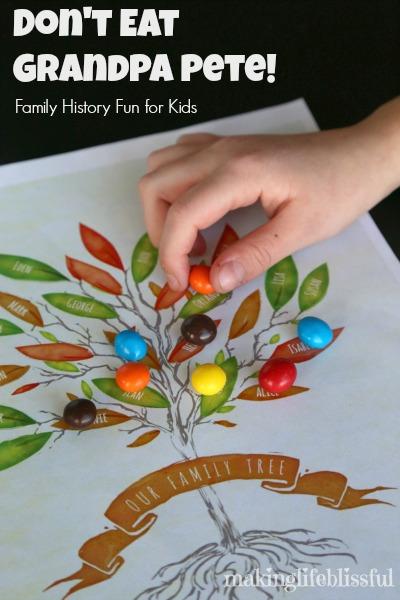 Don\u0027t Eat Grandpa Pete Family History Game for Kids Making Life