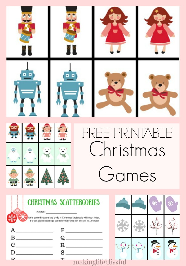 Free Printable Christmas Games for Kids-1 Making Life Blissful