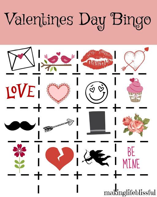 Printable Valentine Bingo and Valentine Jokes Making Life Blissful