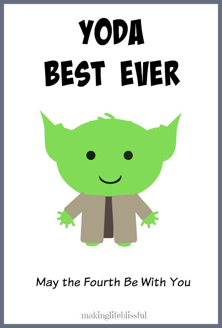 YODA BEST DAD Star Wars Father\u0027s Day Printable Making Life Blissful