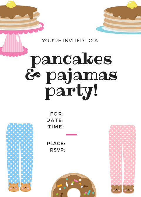 EASY Pancakes and Pajamas Party Ideas Making Life Blissful