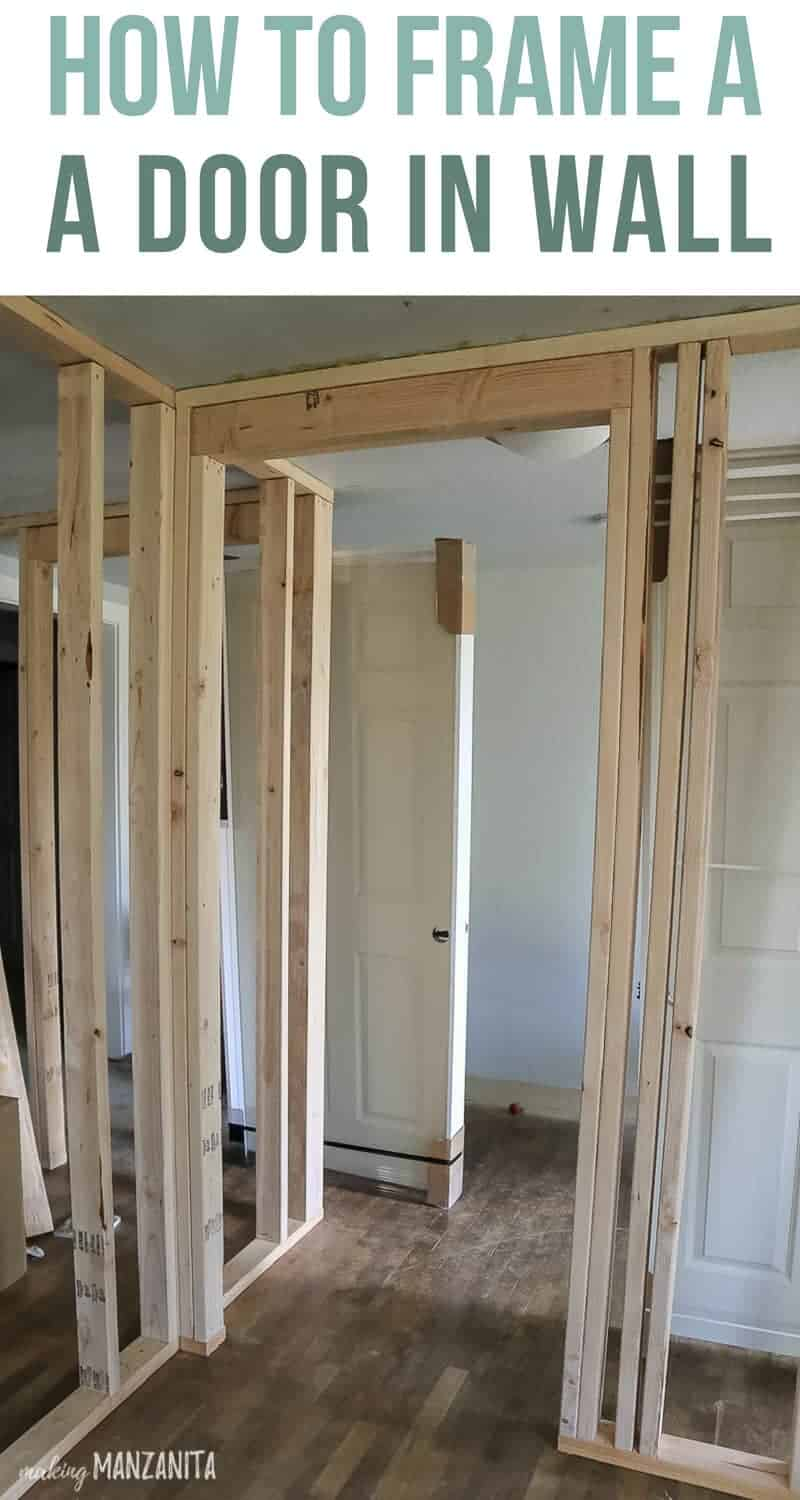How To Frame Pictures How To Build A Wall Part 2 Framing A Door Making Manzanita