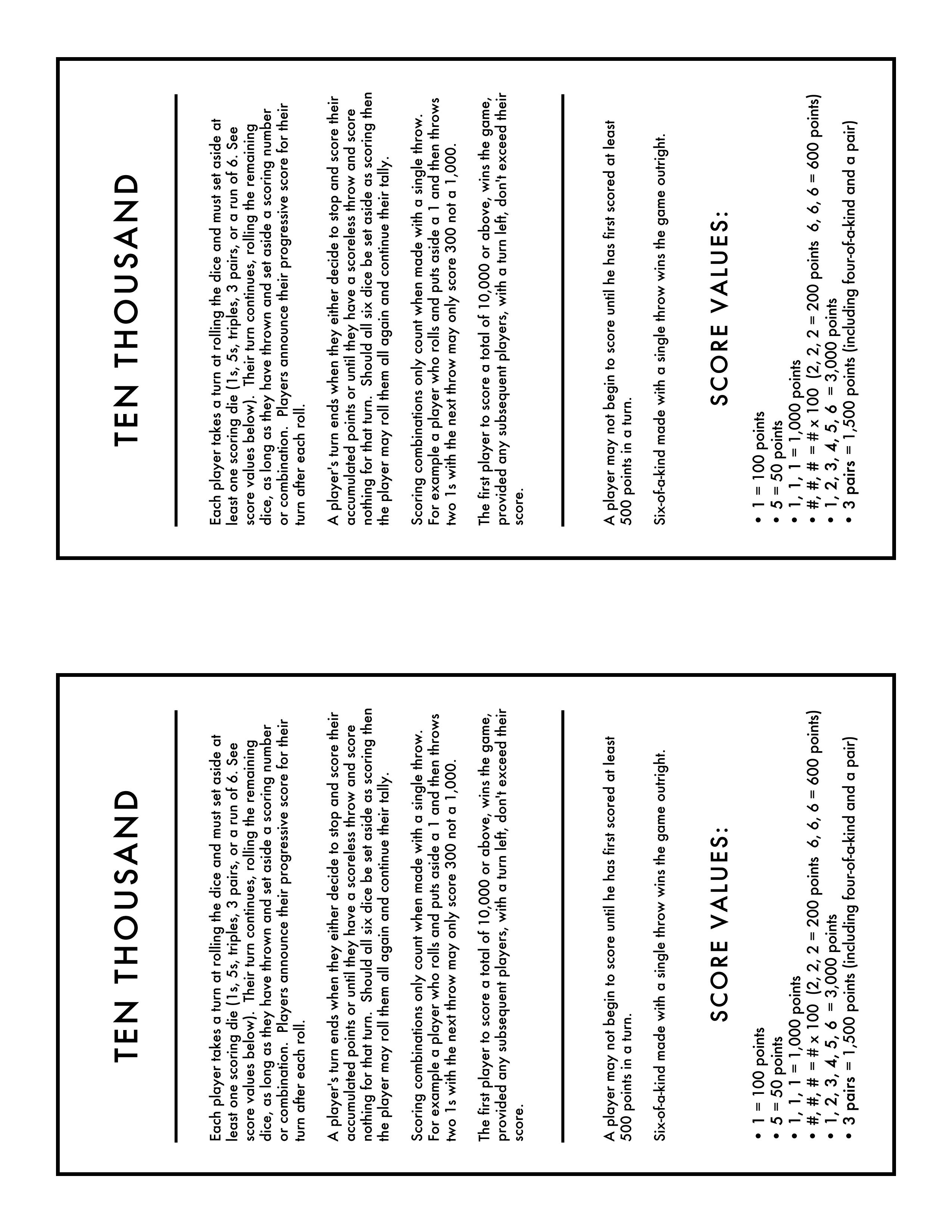 image regarding Farkle Rules Printable named Farkle Ranking Sheet Printable Farkle Scoring Playing cards