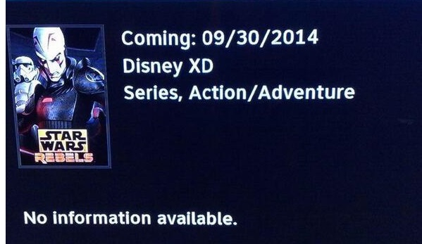DirectTVRebels Star Wars Rebels to Premiere 9/30/2014? Maybe. Maybe not.