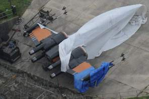 Close up photos of the Star Wars: Episode VII Greenham Common set