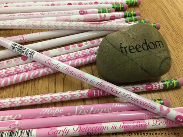 pink pencils and the 'freedom rock'