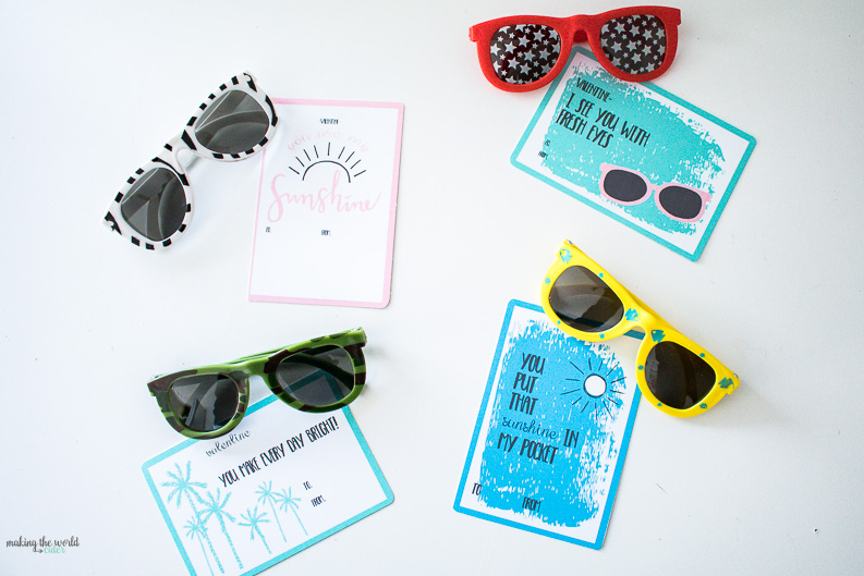 4 Free Valentine Sunglasses Printable Cards - would 4 free
