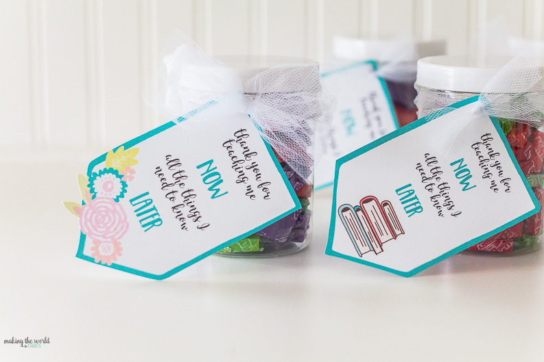 Now and Later Candy Teacher Appreciation Printable Gift