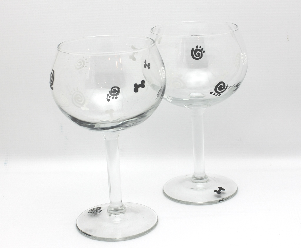 Red Wine Glasses For Sale Hand Painted Red Wine Glass Set Puppy Love
