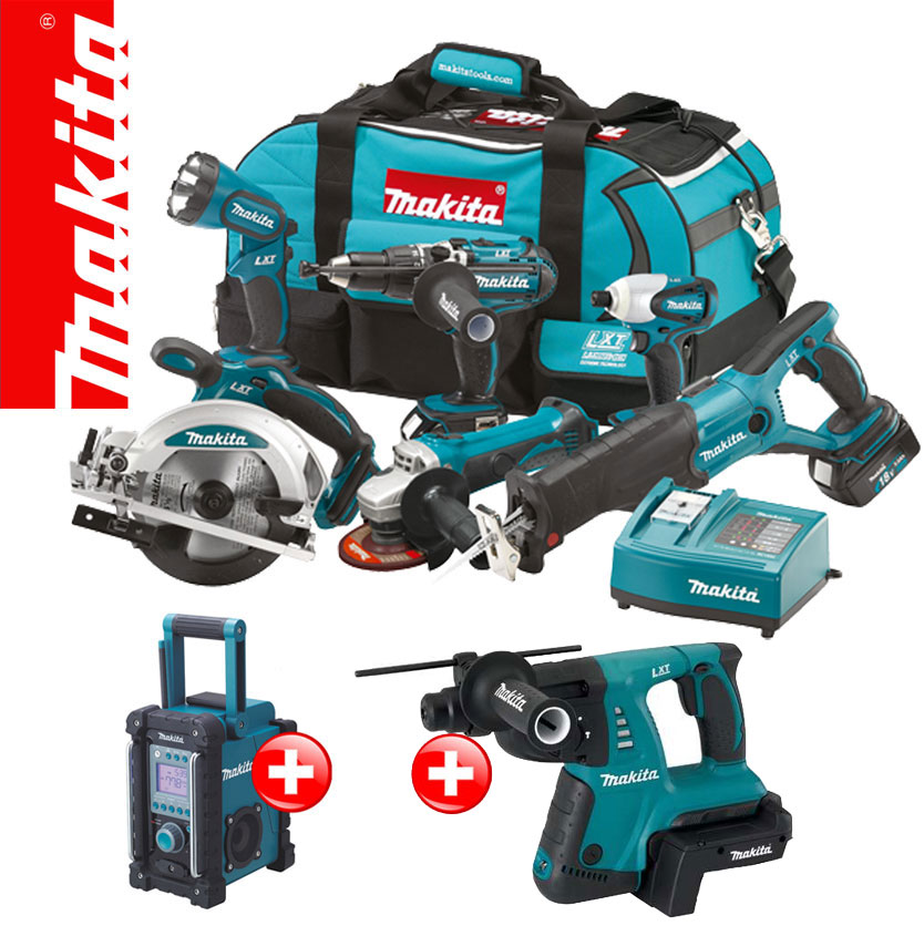 Led Leisten Set Makita 13tl 18v Profi Akku Set +bmr102 +bhr261 36v