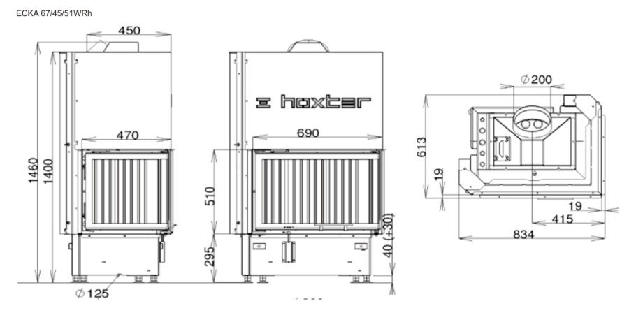 ECKA 67/45/51Wh - размеры