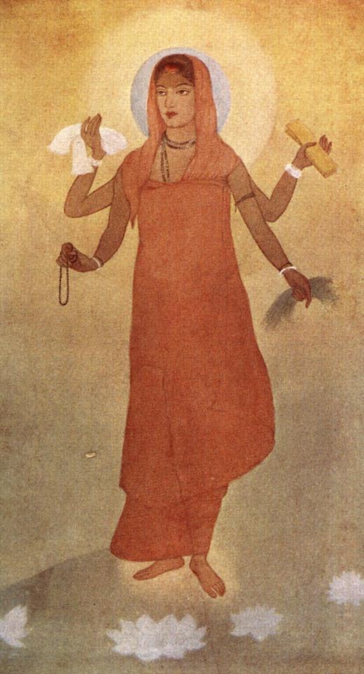 അബീന്ദ്രനാഥ ടാഗോറിന്റെ ഭാരതമാതയുടെ ആദ്യ ചിത്രീകരണം