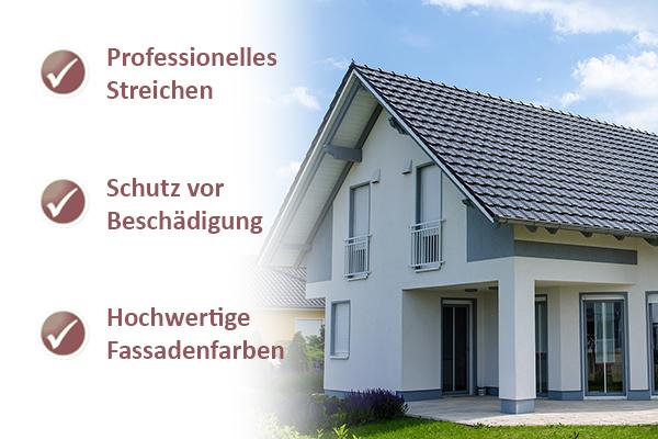 Professionelle Fassade streichen Malerbetrieb Drews - fassade streichen