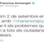 Rajoy recibirá a Armengol el 2 de septiembre en La Moncloa