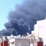 Una densa columna de humo causa alarma en Palma