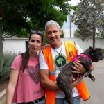 Noa, una perrita abandonada de 10 años, encuentra un hogar