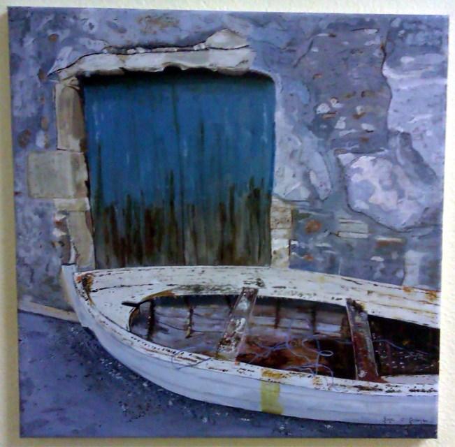 Gaye O'Gorman 'Old Fishing Boat'.