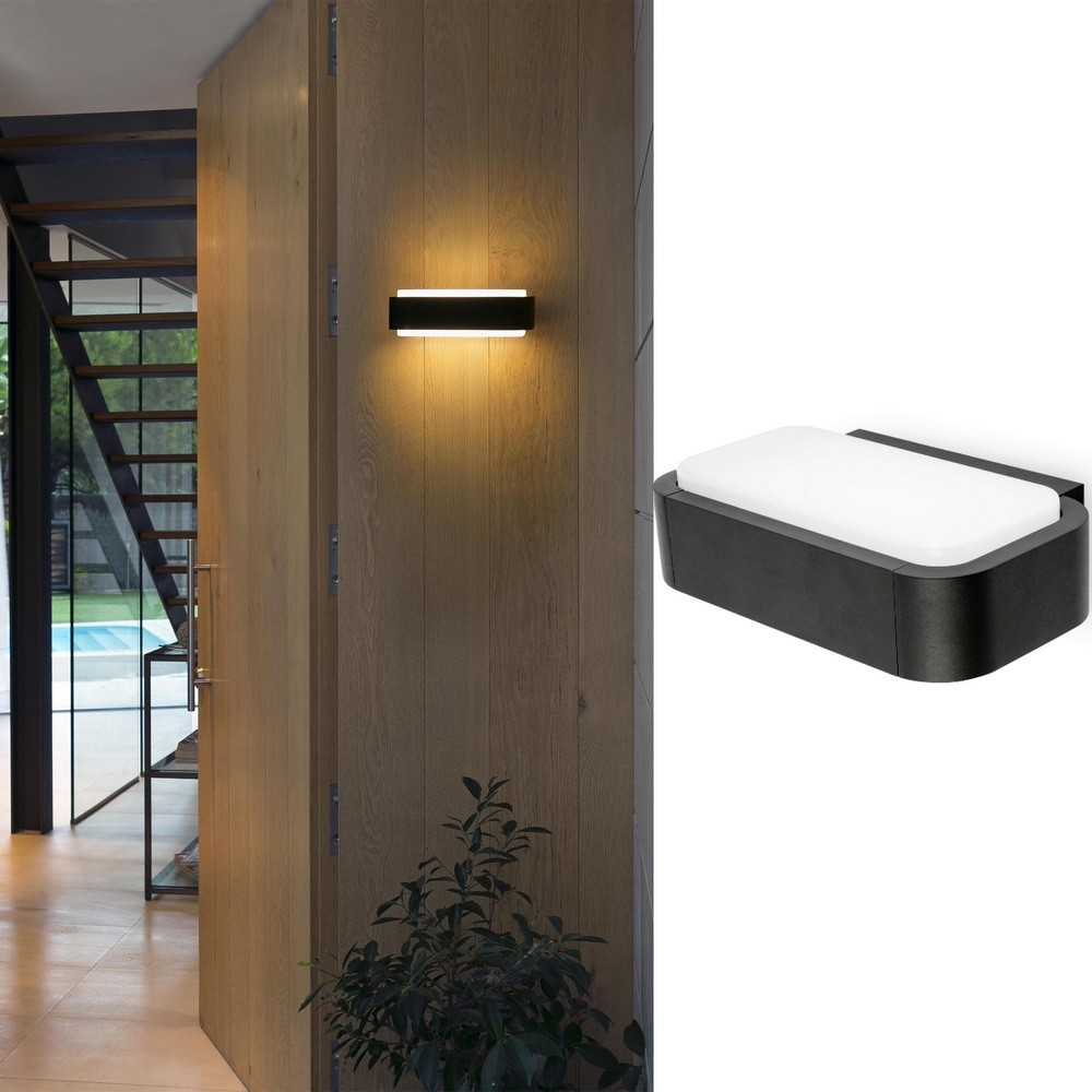 Applique Murale Exterieur Anthracite Applique Murale Led En Aluminium Anthracite éclairage Vers Le