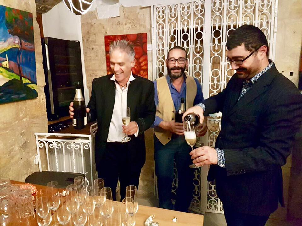 Owner Anthony Busuttil (L) flanked by Artistic Director Karl Mallia and Anson David from The Guest Experience Company