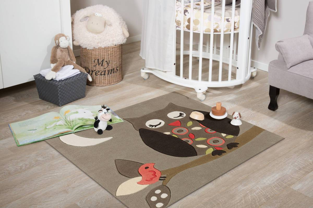 Teppiche 130x130 Kids Joy 4190 Multi Owl