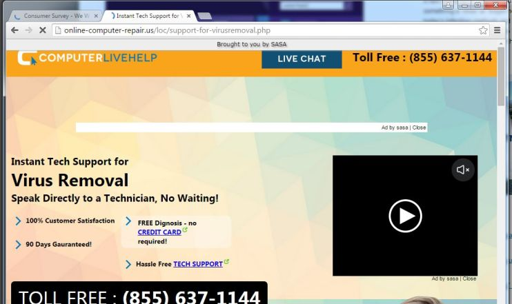 Remove Tech Support Scam Pop-up Virus (Call For Support Scam)