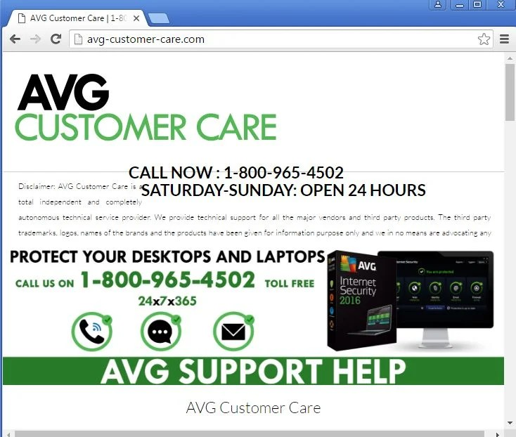 Remove Avg-customer-care pop-up ads (Removal Guide)