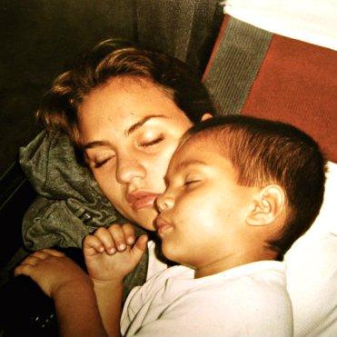 Ximena y su hijo, Samuel.