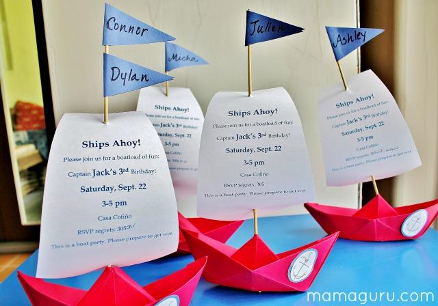 Spectacular Boat Party Invitations \u2022 Mamaguru
