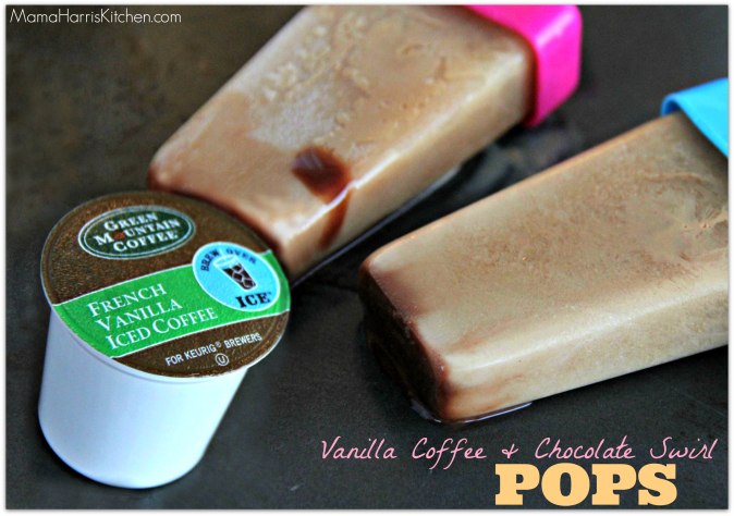 Vanilla Coffee and Chocolate Swirl pop with the best k cup flavors