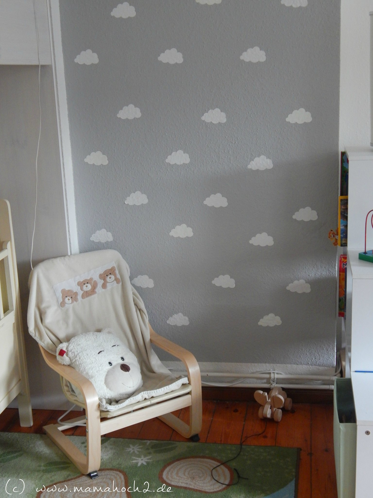 Bordüre Kinderzimmer Grau Kinderzimmer Ideen 1 Wolkenwand Tutorial And Plotter