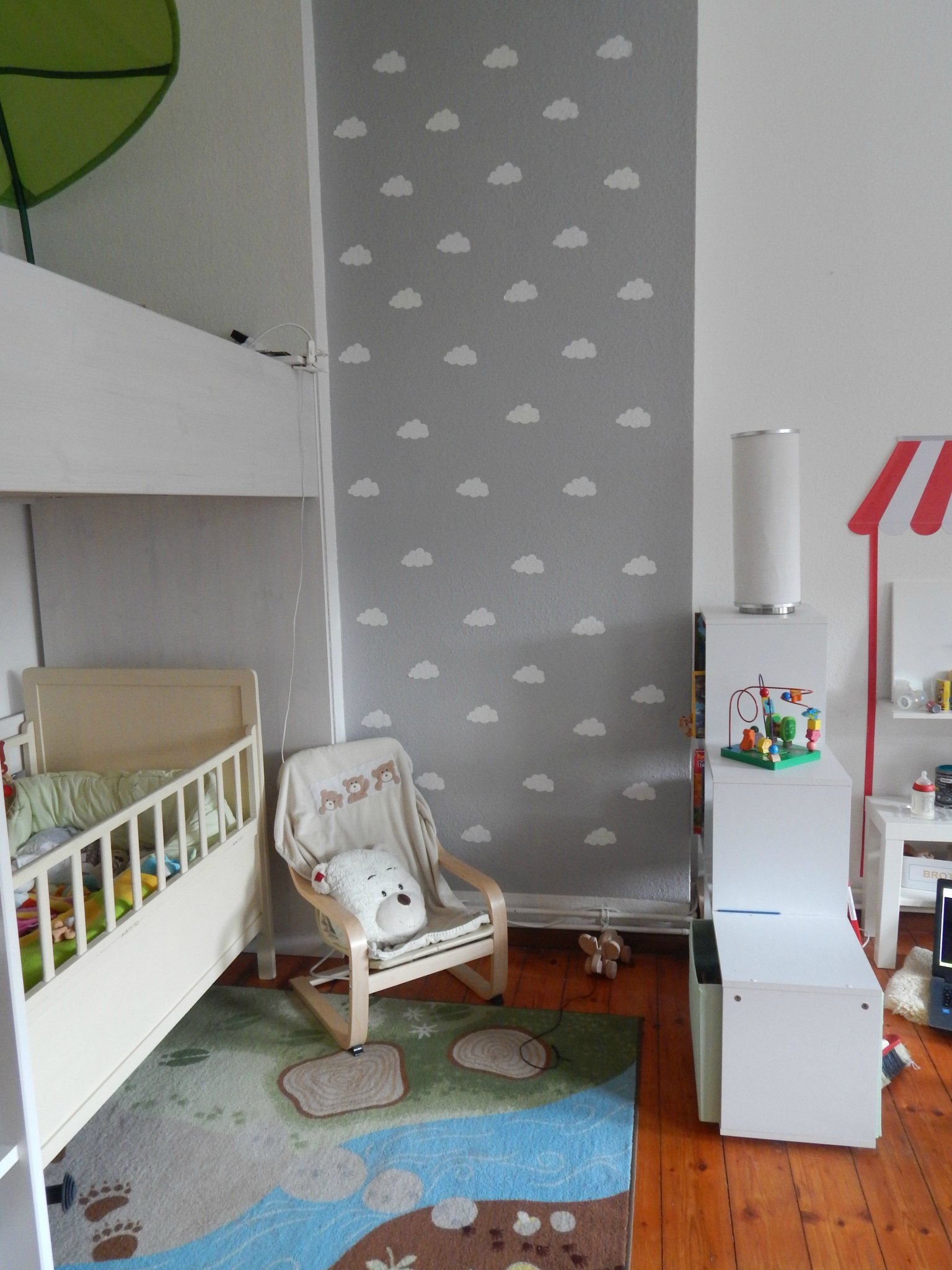 Graues Zimmer Kinderzimmer Ideen 1 Wolkenwand Tutorial And Plotter