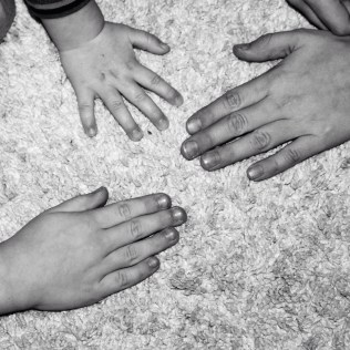 Kinderhände Hände drei