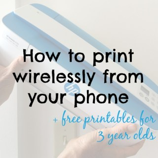Find out how I print wirelessly from my phone using a very tiny HP printer plus get free printables for your 3 year old. #HPMillennials